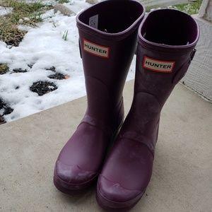 Hunter Women Original Short Boots Sz 7F